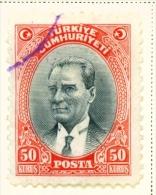 TURKEY  -  1930  Kemal Attaturk  50k  Used As Scan - 1921-... Republic
