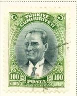 TURKEY  -  1930  Kemal Attaturk  100k  Used As Scan - 1921-... Republic