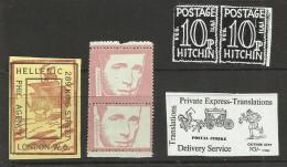 GRÈVE POSTALE BRITANNIQUE DE 1971 : 19 VIGNETTES - 1971 BRITISH POSTAL STRIKE : 19 STAMPS (VARIOUS ISSUES) - Cinderellas