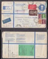 Great Britain, 1987 Registered Air  WARRINGTON To S.Africa ,JOHANNESBURG VANDEBBIJL PARK, BOKSBURG C.d.s. - 1952-.... (Elizabeth II)