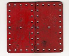 MECCANO SCHARNIER / HINGE / CHAR-NIÈRE -  Ca. 13 Cm X 11,5 Cm - Rood / Rot / Red / Rouge - Meccano