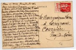1953 - CP De LION SUR MER (CALVADOS) Avec TYPE PAIX De CARNET / BANDE PUB - France