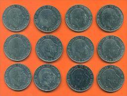 Lot De 12 Monnaies Commemoratives De 1 Franc De Gaulle 1988 - Qualité  - Voir 2 Scans - H. 1 Franc