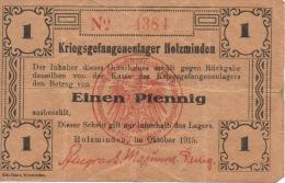 Holzminden Billet De Banque Du Camp De Prisonniers Kriegsgefangenenlager 1915 Guerre 1914 1918 Militaria - [ 2] 1871-1918 : Empire Allemand