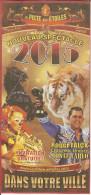 Affichette Cirque Falck La Piste Aux étoiles - Clown Cheval Tigre Félin Fauve éléphant - Sonstige