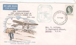 Australia 1965 55th Anniversary First Aeroplane Flight In South Australia Cover - 1952-65 Elizabeth II: Dezimalausgaben (Vorläufer)