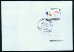 Biber Post Brief 20 Jahre Grenzöffnung, Pfarrverein Dedeleben (Wappen) Glatt, Langer UPOC 0,45 €  Bpb058e - BRD