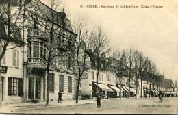 CPA 58 COSNE BOULEVARD DE LA REPUBLIQUE CAISSE EPARGNE - Cosne Cours Sur Loire