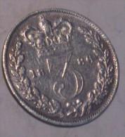 Great Britain 3 Pence 1886 - 1816-1901: 19. Jh.