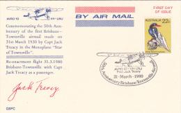 Australia 1980 50th Anniversary Brisbane-Townsville Airmail Souvenir Card - Australia