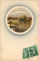 Agriculture - Attelages - Attelage De Chevaux - Arts - Peintures Et Tableaux -  état - Agriculture