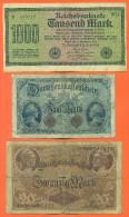 Lot De 3 Billets Anciens D'allemagne - Kiloware - Banknoten