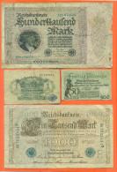Lot De 4 Billets Anciens D'allemagne - Lots & Kiloware - Banknotes