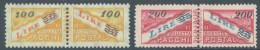 SAN MARINO - 1948 - MNH/**-   -  Sa  33-34 - Lot 11179  Sa 33 IS MVLH/* - Paketmarken