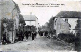 SOUVENIR DES MANOEUVRES D´AUTOMNE 1907 ++ 7è Corps D´Armée. Au Cantonnement ++ - Manöver
