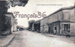(33) Saint St Médard De Guizières - Rue De La République - En état : Pliures  - 2 SCANS - France