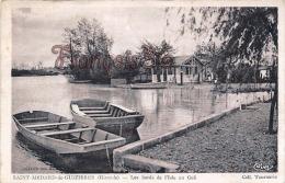 (33) Saint St Médard De Guizières - Les Bords De L'Isle Au Guâ - Barques - Bon état - 2 SCANS - France