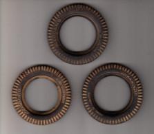 3x MECCANO RUBBERBAND / TYRE / PNEU - Diameter 7,5 Cm - Meccano