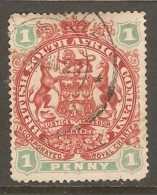 RHODESIA    Scott  # 51  VF USED - Great Britain (former Colonies & Protectorates)