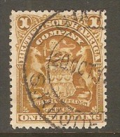 RHODESIA    Scott  # 66  VF USED - Grande-Bretagne (ex-colonies & Protectorats)