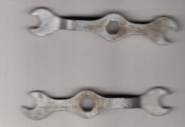 2x MECCANO Sleutel / Key  - Ca. 8 Cm - Meccano