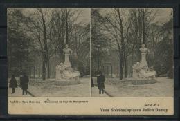 CPA: 75 - PARIS - PARC MONCEAU, MONUMENT DE GUY DE MAUPASSANT - Arrondissement: 08
