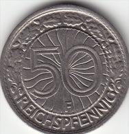 Weimarer Republik 50 Reichspfennig 1927 A Vz - [ 3] 1918-1933: Weimarer Republik