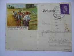 GERMANY 1944 CARD WITH FARM ILLUSTRATION - Germania