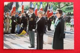 SENNECEY LE GRAND - 60e ANNIVERSAIRE DE LA LIBERATION. DEPOT DE GERBE - SAS - MINISTRE MME ALLIOT MARIE- PRINCESSE ANNE - France