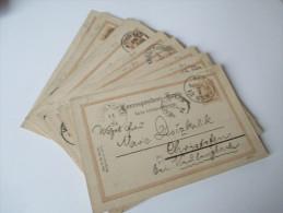 Österreich Ganzsachen Ausgabe 1890 Türbogenmuster P 79 Polnisch. 18 Stück Aus Einer Korrespondenz! Steno - Entiers Postaux