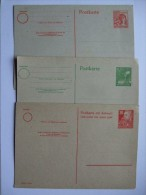 GERMANY ALLIED OCCUPATION SELECTION OF 3 UNUSED STATIONARY CARDS - Zone AAS