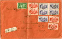 Regno. Storia Postale 1941. RACCOMANDATA FRATELLANZA D'ARMI ITALO TEDESCA - RARA - Poststempel