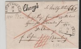 Bay296/Bayern, Lichtenfels, Chargé Nach Bamberg 1840 - Duitsland
