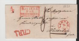 Bay305  Bayern, Landau 1837, Rayon 1, Bayern über Weissenburg Franz. Elsass - Duitsland