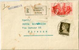 Regno. Storia Postale 1941. RACCOMANDATA FRATELLANZA D´ARMI ITALO TEDESCA - Poststempel