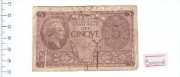 5 Lire Regno D'italia - Banconota Banknote - [ 1] …-1946 : Kingdom