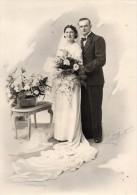 6  PHOTOS  ORIGINALES -  MARIAGES  -  ROBES  DE  MARIEES. - Foto