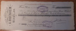 1905 Cambiale / Promissory Note - Leder Manufactur A. Bodenheim Worms A. RH. - Cambiali