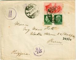 Regno. Storia Postale 1941. LETTERA PER ESTERO FRATELLANZA D´ARMI ITALO TEDESCA - Poststempel