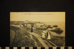 CP, 44, LE POULIGUEN, N°4158, Rochers De La Pointe De Penchateau, Voyagé En 1917 - Le Pouliguen