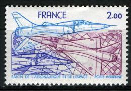 FRANCE Aer54**  2,00f  Bleu, Violet Et Rose  34èm Salon International De L´Aéronautique Et De L´Espace - Posta Aerea