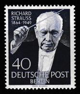 """Berlin, Mi-Nr. 124  """" Richard Strauss""""  Feinst Xx Perfekt Gezähnt A.Abo-Sammlung, Los 6.2-43 - Neufs"""
