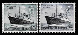 "Berlin, Mi-Nr. 126/27  ""  MS BERLIN ""  Feinst Xx Perfekt Gezähnt A.Abo-Sammlung, Los 6.2-53 - [5] Berlin"