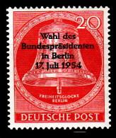 """Berlin , Mi-Nr. 118  """"  Wahl D.Bundespräsidenten """"  Feinst Xx Gut Gezähnt A.Abo-Sammlung, Los 6.2-44 - [5] Berlin"""