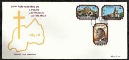 PREMIER JOUR . 75 éme ANNIVERSAIRE DE L´EGLISE CATHOLIQUE AU RWANDA  . 26 AVRIL 1976 . KIGALI. - 1970-79: FDC