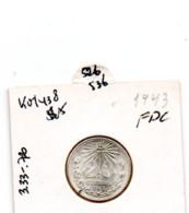 MEXICO 20 CENTAVOS 1943 SILVER KM438 - Mexique