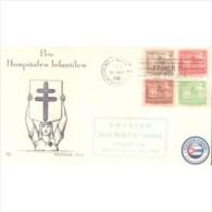 1958-FDC-14 CUBA REPUBLICA. 1958. Ed.40-43. CONSEJO TUBERCULOSIS. LILY COVER. COMPLETE SET. - Otros