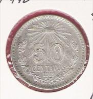 MEXICO 50 CENTAVOS 1919 SILVER KM446 - Mexique