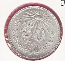 MEXICO 50 CENTAVOS 1944 SILVER KM447 - Mexique