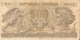 BILLETE DE ITALIA DE 500 LIRAS DEL AÑO 1966 -MEDUSA  (BANKNOTE) - 500 Liras